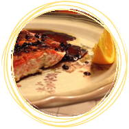 Salmon with black garlic glaze recipe