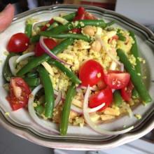 Green bean, tomato and quinoa salad